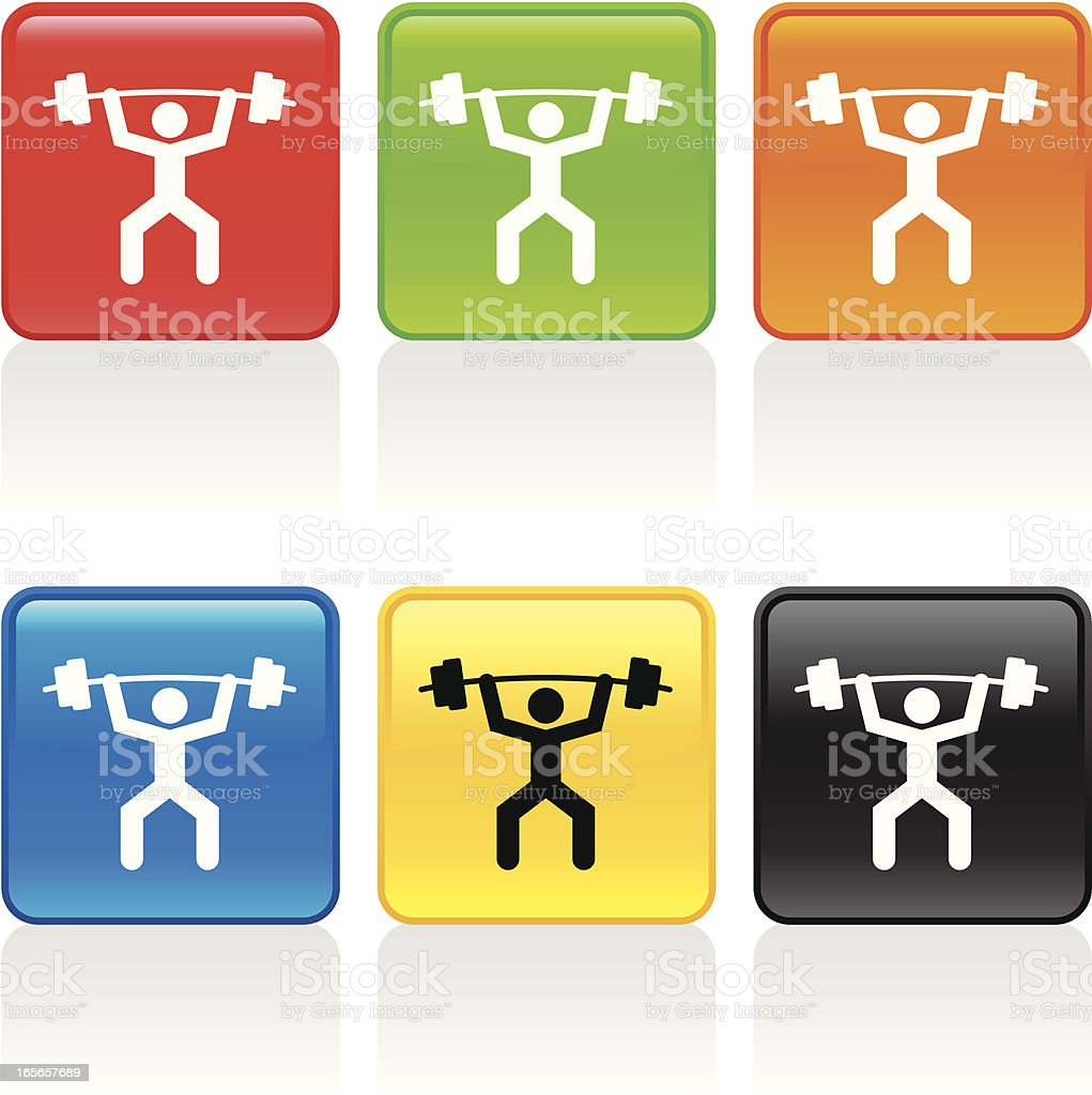 Weightlifter Icon royalty-free stock vector art