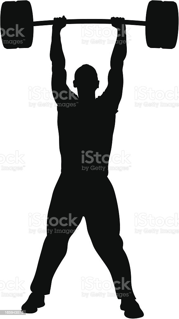 Weightlifter Silhouette royalty-free stock vector art