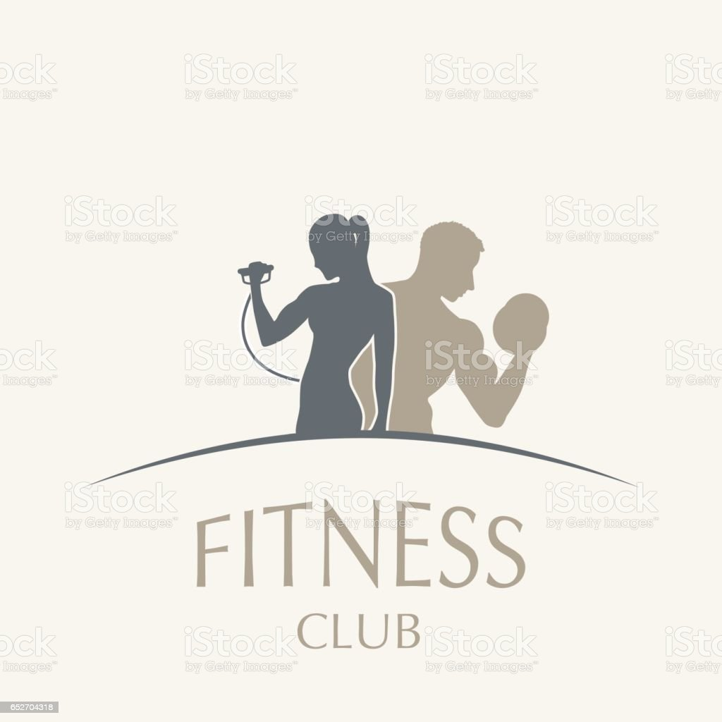 weightlifting and fitness vector art illustration