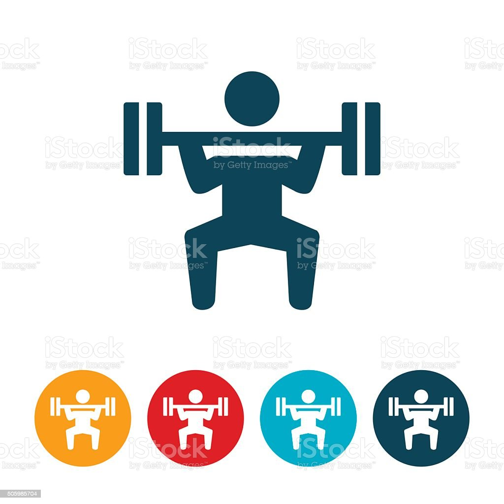 Weightlifting Icon vector art illustration