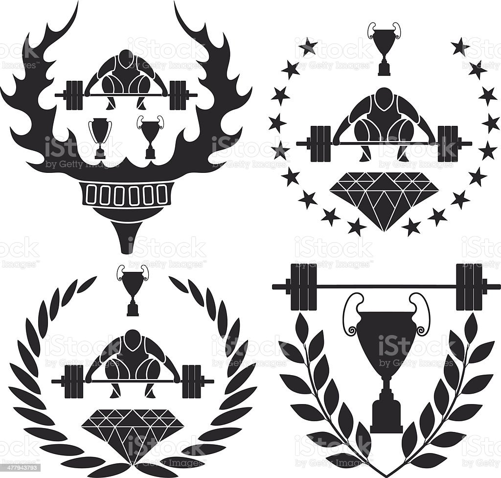 Weightlifting royalty-free stock vector art