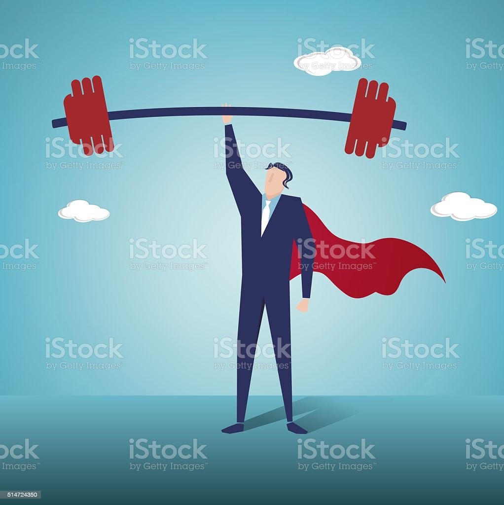 Weightlifting vector art illustration