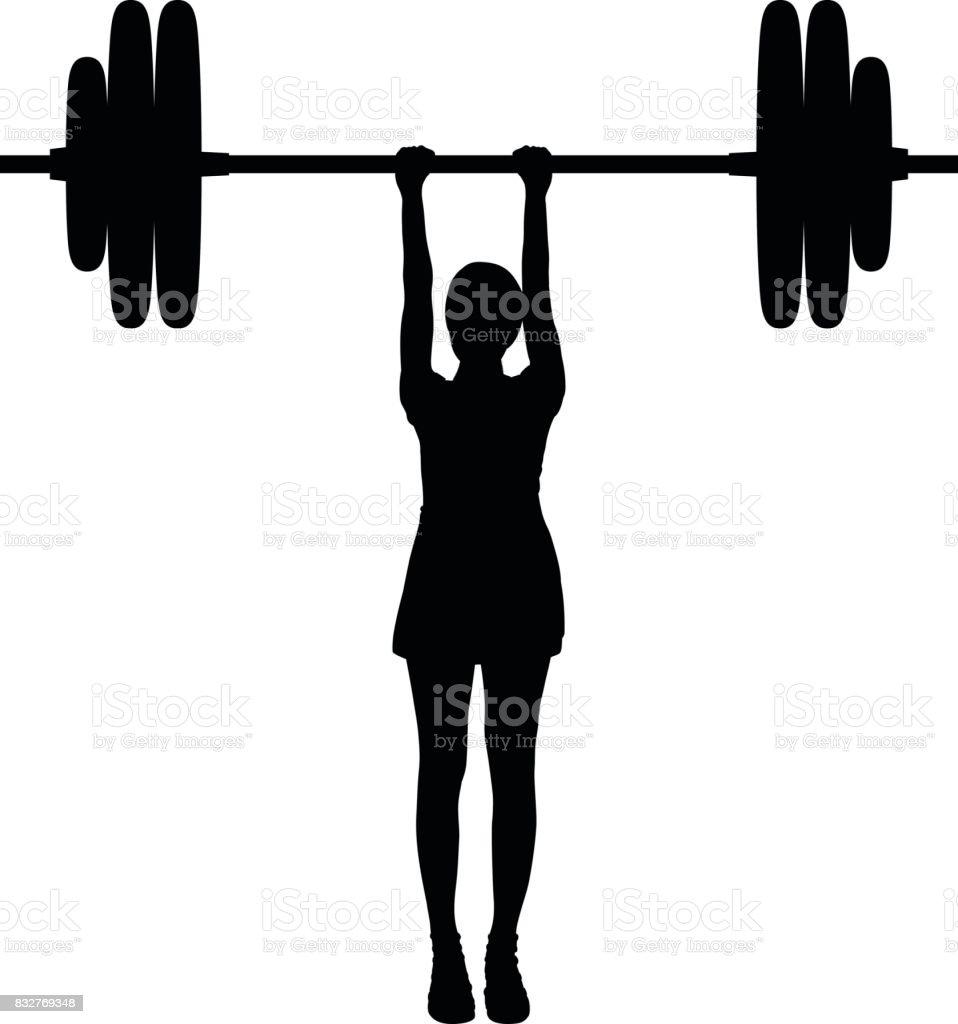 Weightlifting vector art illustration