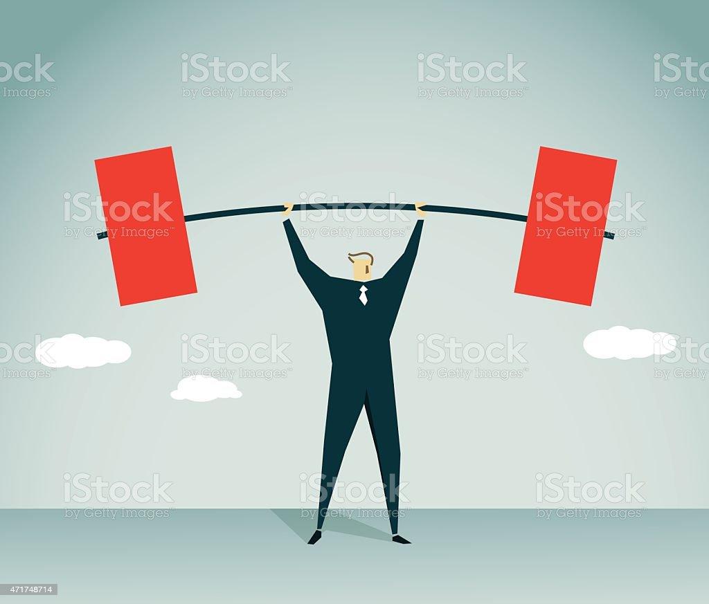 Weightlifting-Illustration vector art illustration