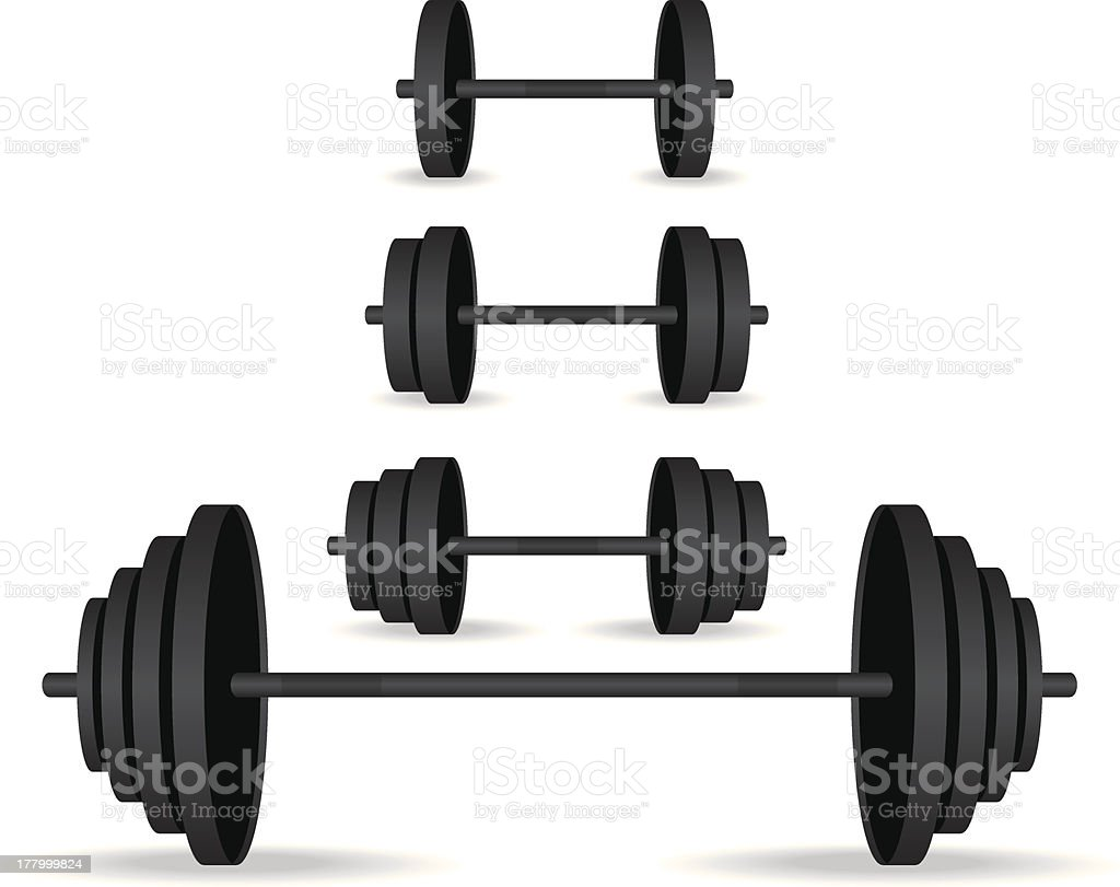 Weights black collection illustration royalty-free stock vector art