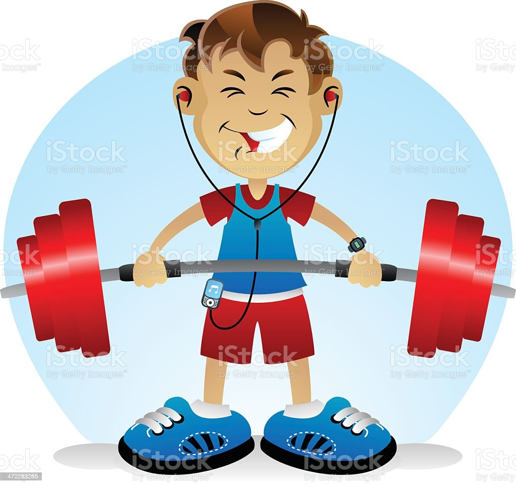 Weights Boy royalty-free stock vector art