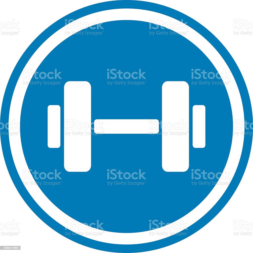 weights icon vector art illustration