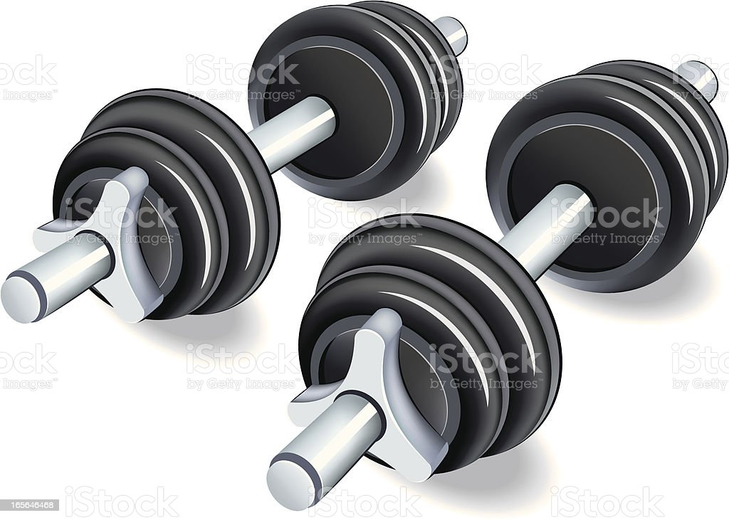 Weights royalty-free stock vector art