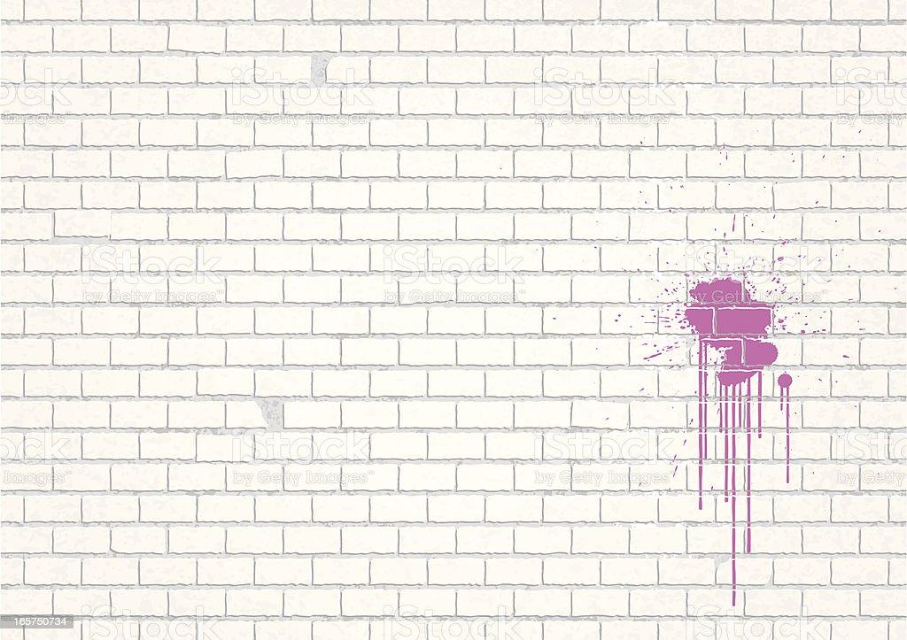Weisse Mauer vector art illustration