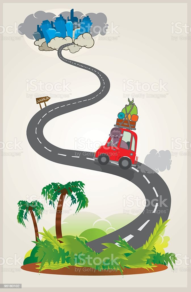 welcom to the jungle vector art illustration