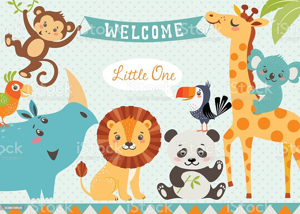 Welcome baby vector art illustration