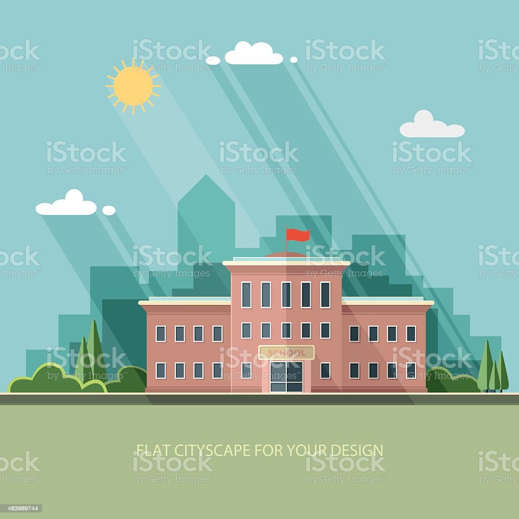 Welcome back to school. Flat style vector illustration. vector art illustration