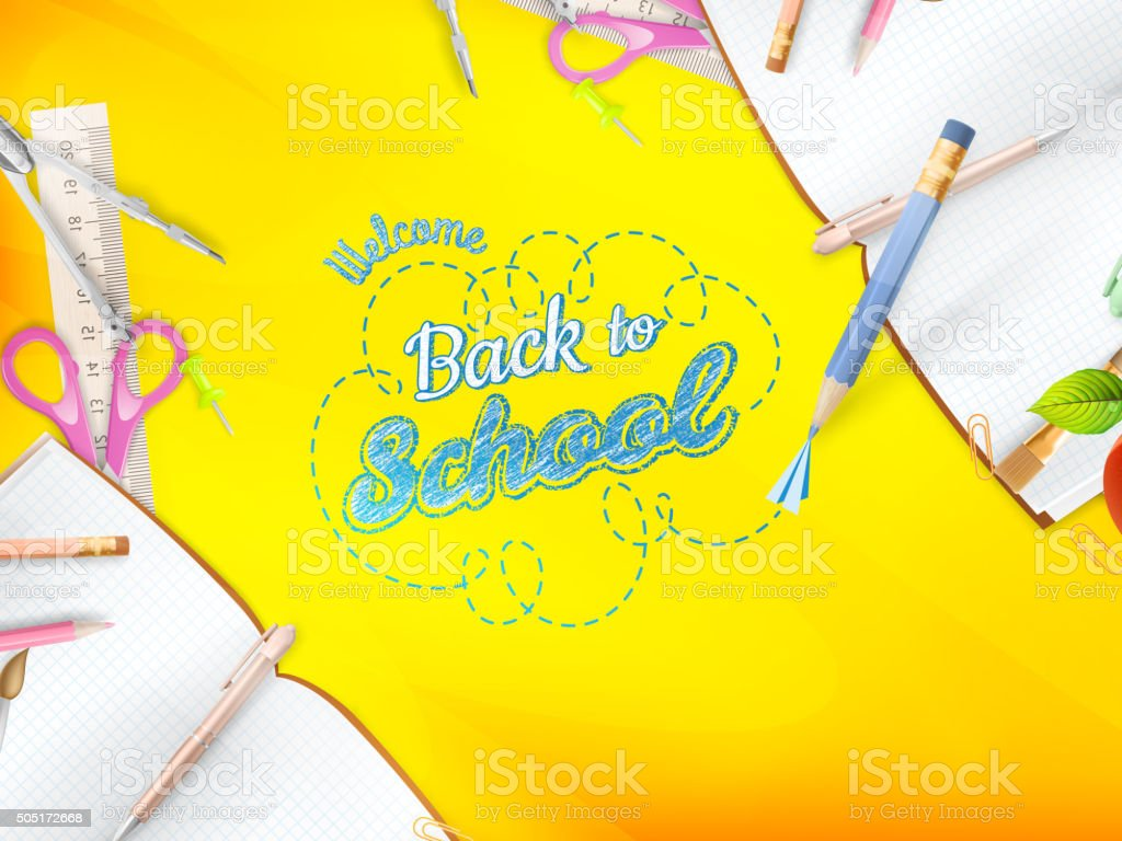 Welcome back to school greeting card eps 10 stock vector art welcome back to school greeting card eps 10 royalty free stock vector art kristyandbryce Choice Image