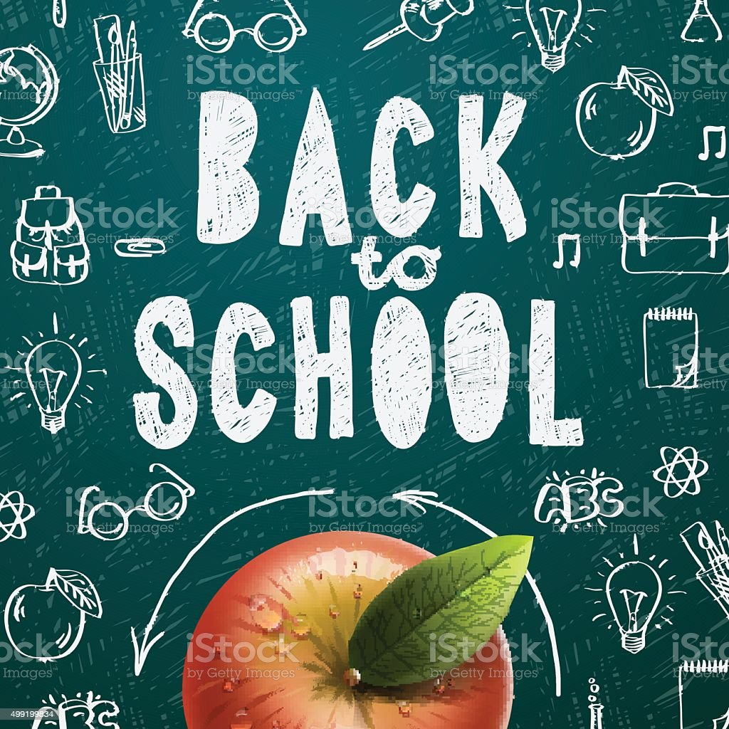 Welcome back to school sale background vector art illustration