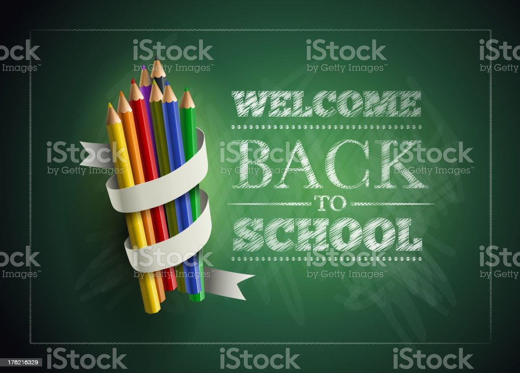 Welcome Back to School vector art illustration