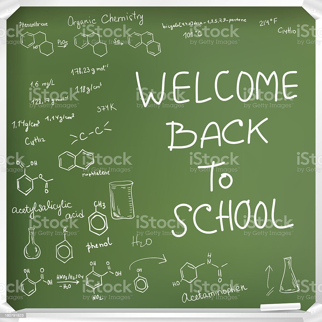 Welcome back to school royalty-free stock vector art