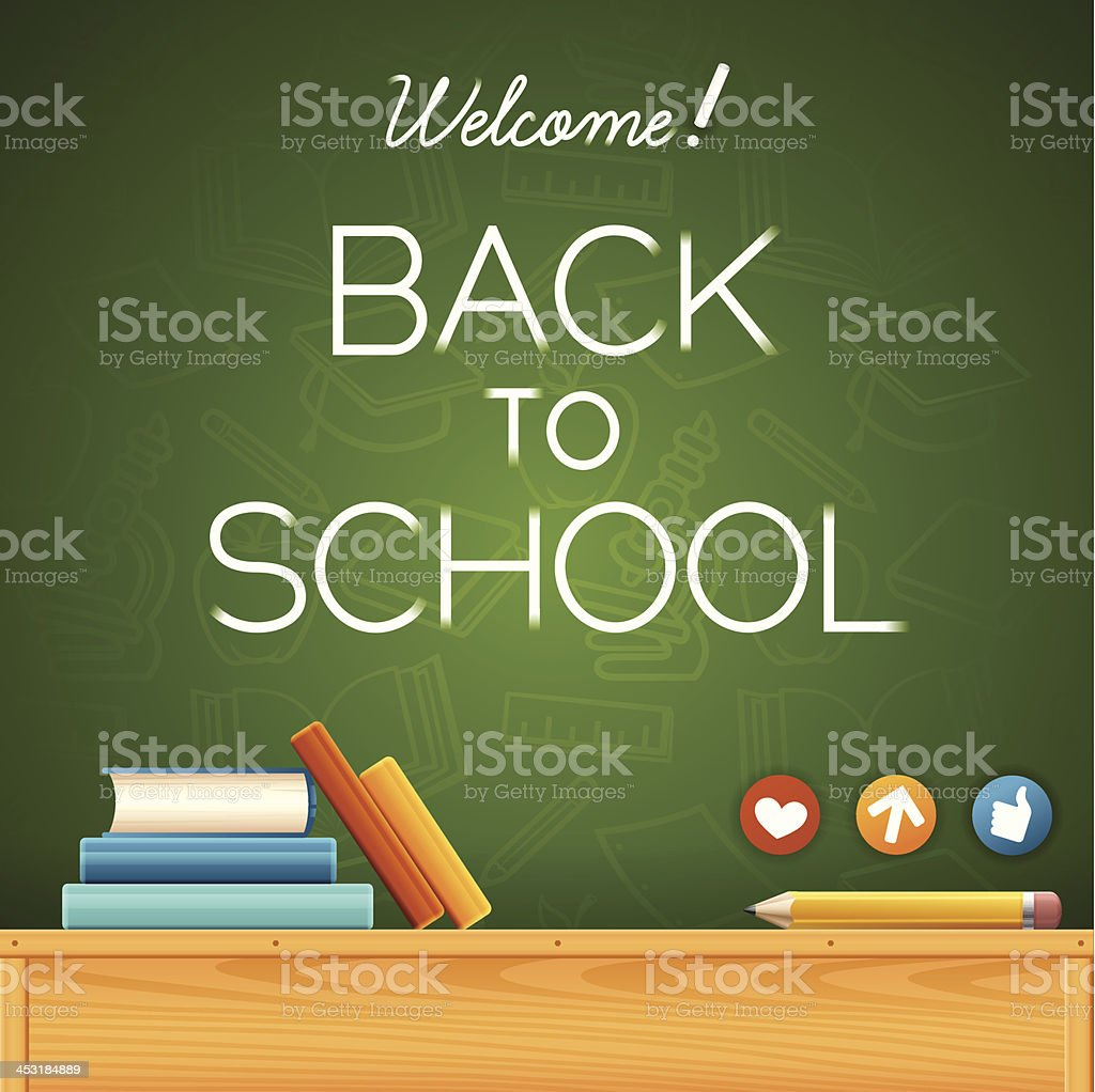 Welcome Back to School! royalty-free stock vector art