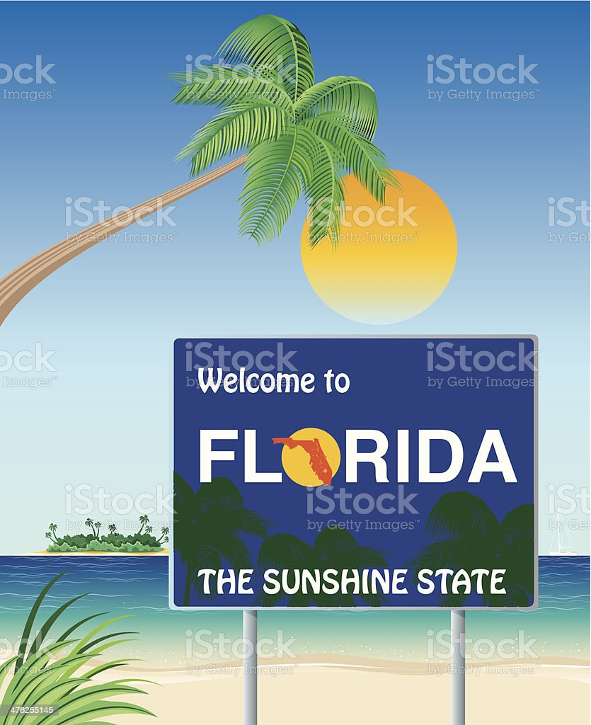Welcome Florida vector art illustration