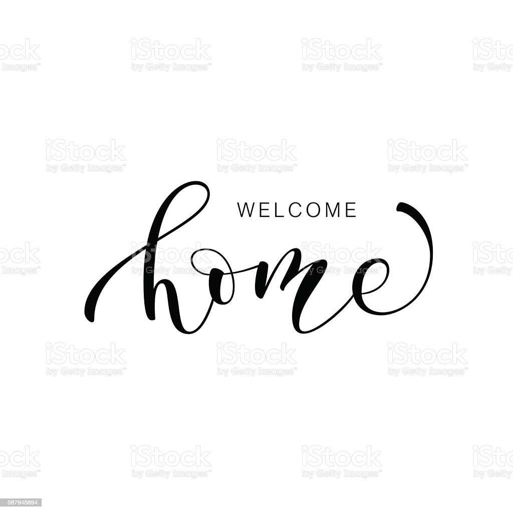 Welcome home card. vector art illustration
