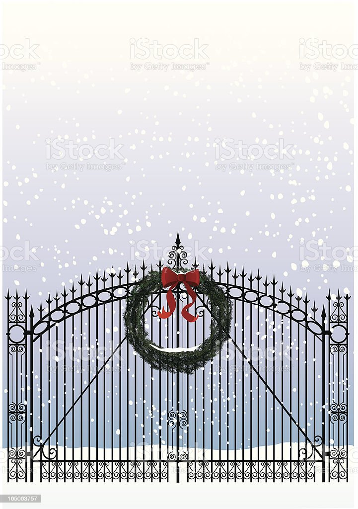 Welcome Home for Christmas! royalty-free stock vector art