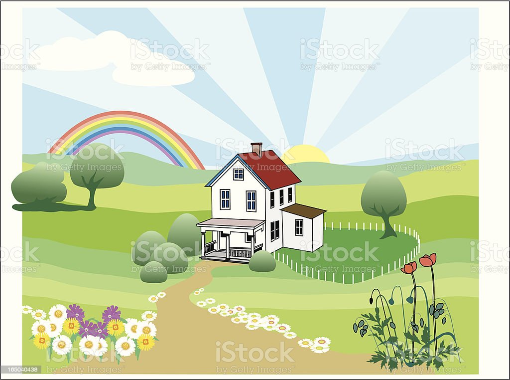 welcome home royalty-free stock vector art