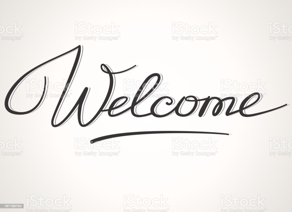 Welcome lettering vector art illustration