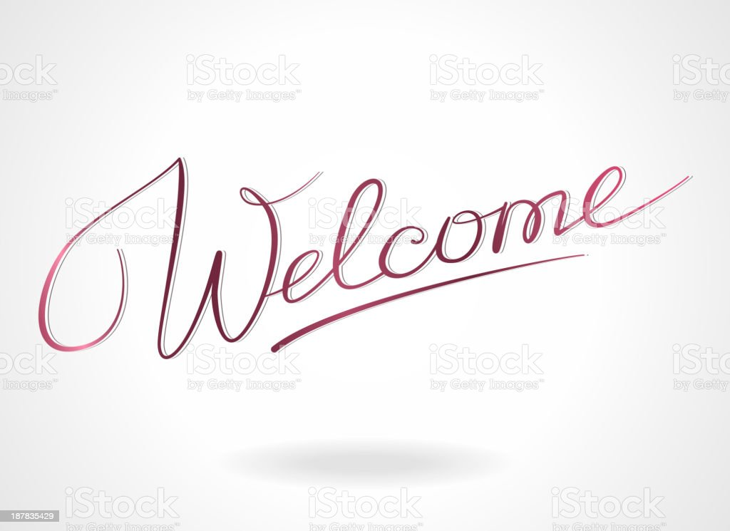 Welcome lettering royalty-free stock vector art