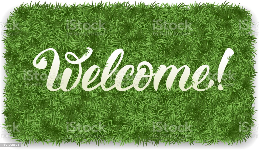 Welcome mat vector art illustration