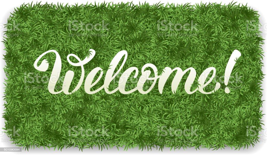 Welcome mat vector art illustration