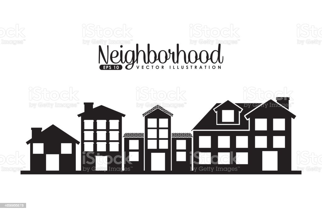 welcome neighborhood vector art illustration