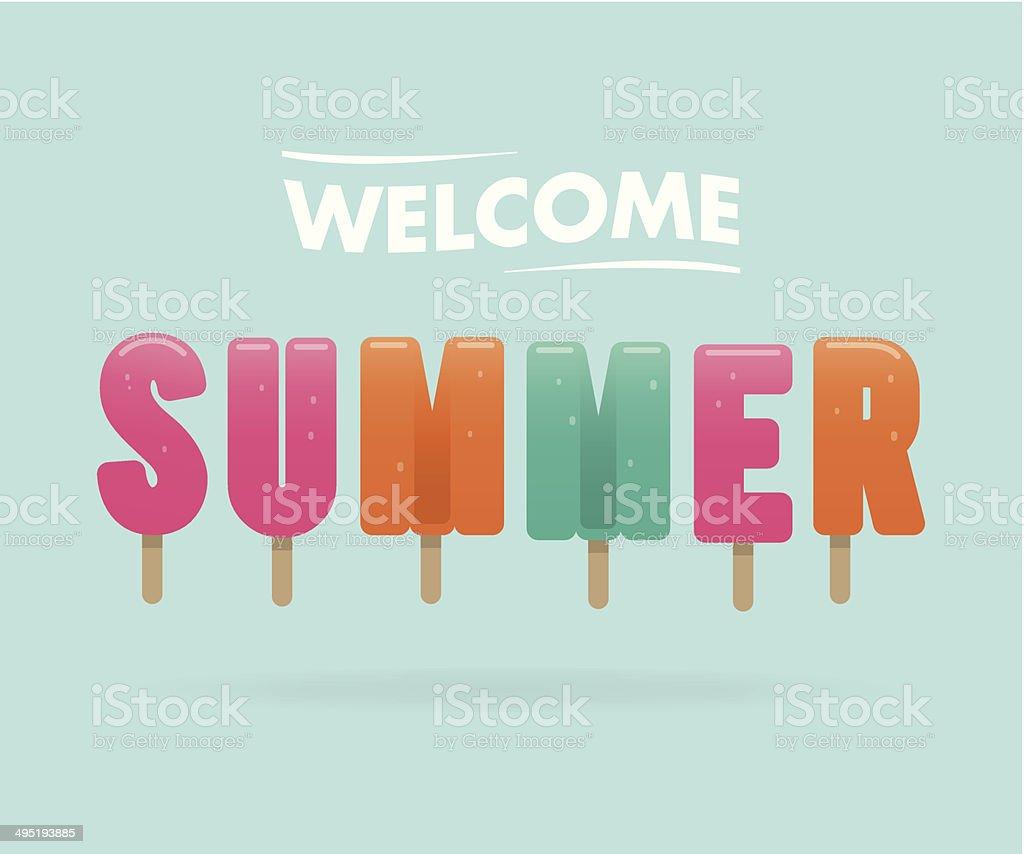 welcome summer vector art illustration