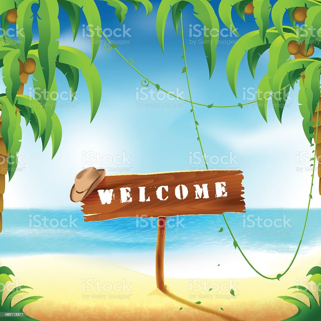 Welcome to beach royalty-free stock vector art