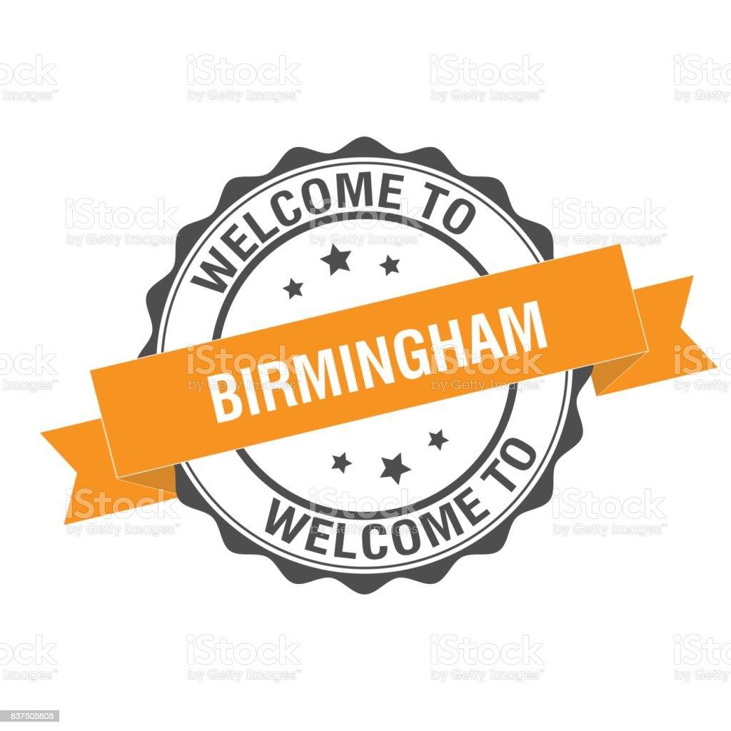 Welcome to Birmingham stamp illustration vector art illustration