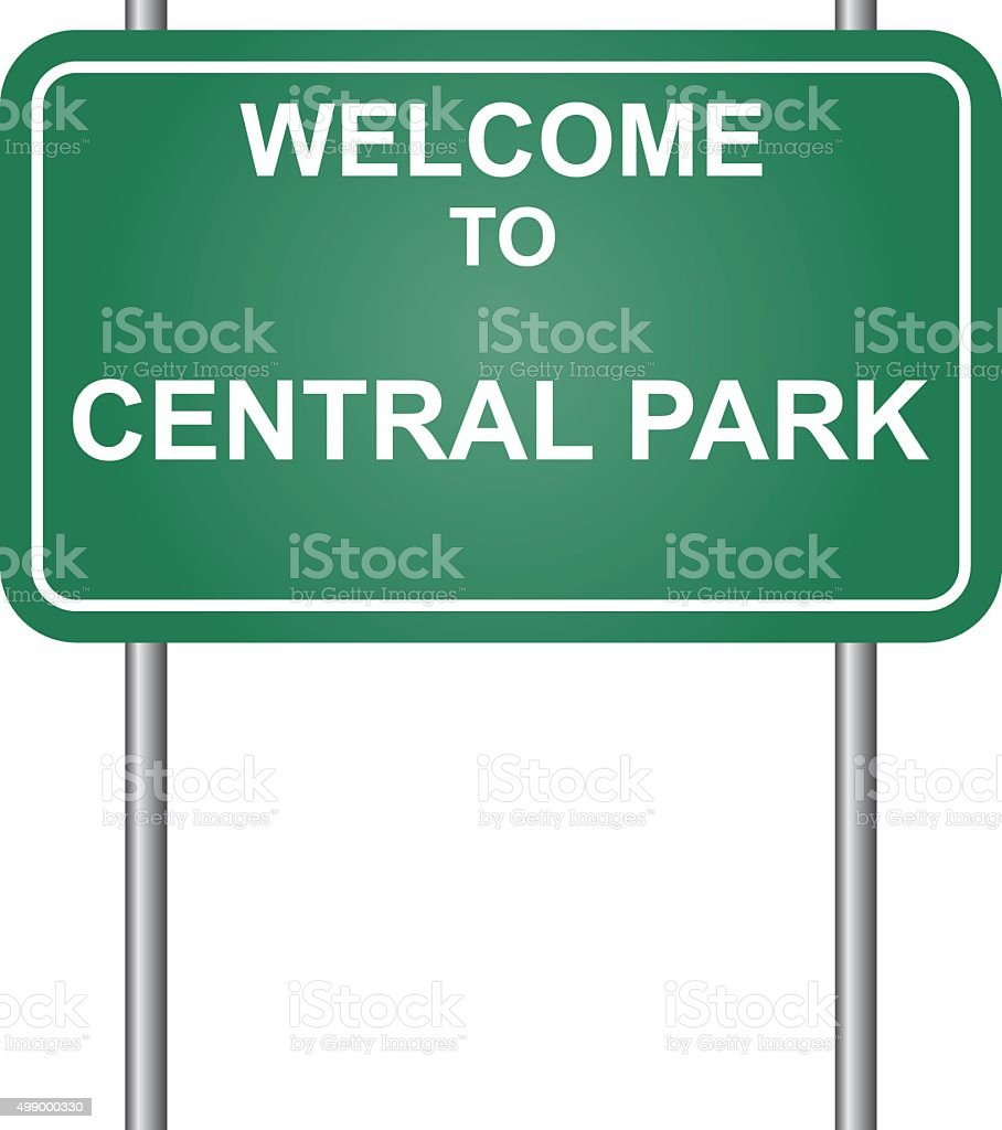 Welcome to Central Park vector vector art illustration
