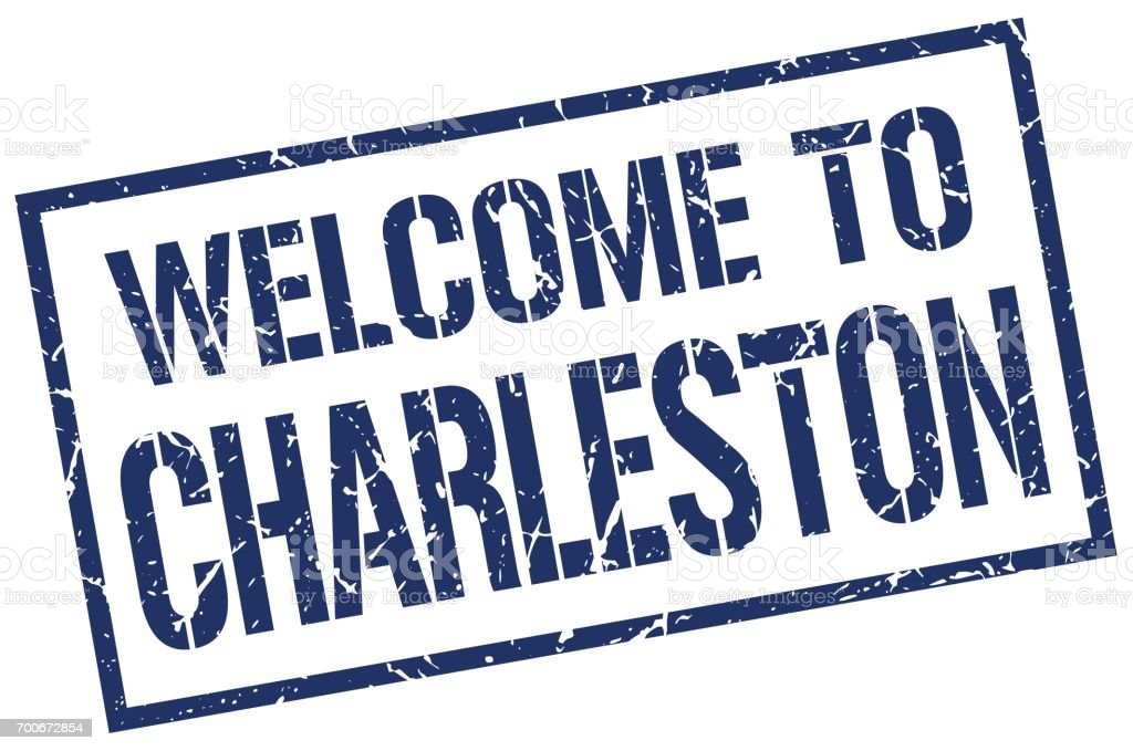 welcome to Charleston stamp vector art illustration