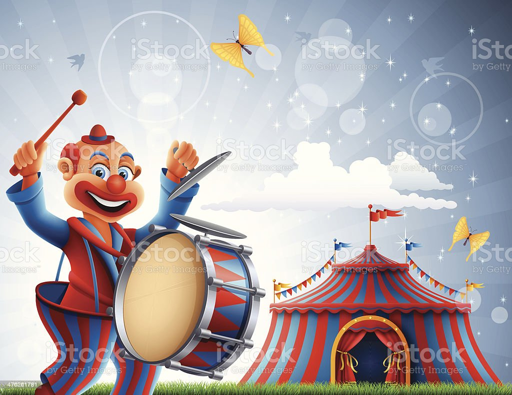 Welcome to Circus vector art illustration