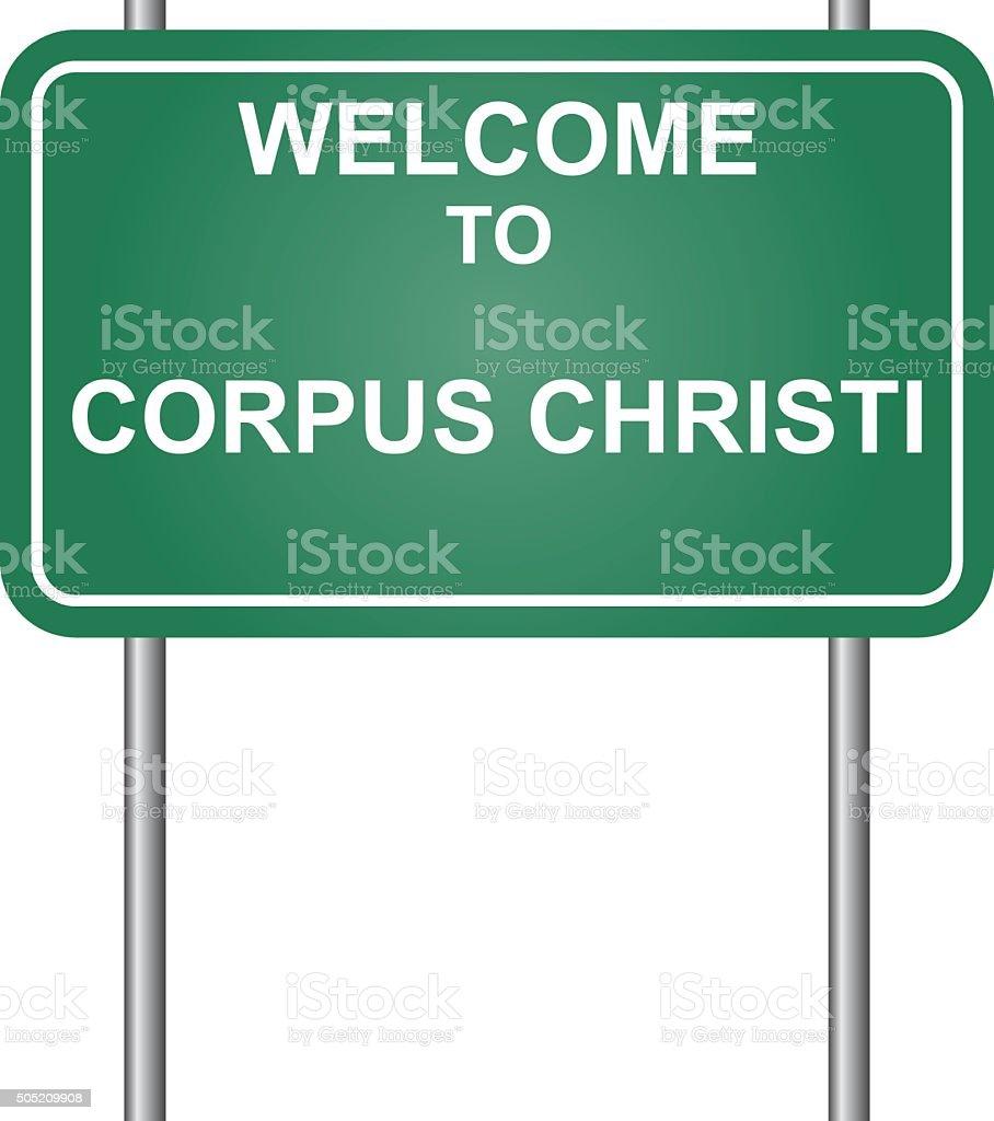 Welcome to Corpus Christi vector vector art illustration