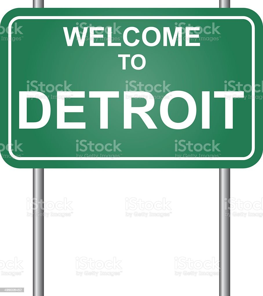 Welcome to Detroit vector vector art illustration