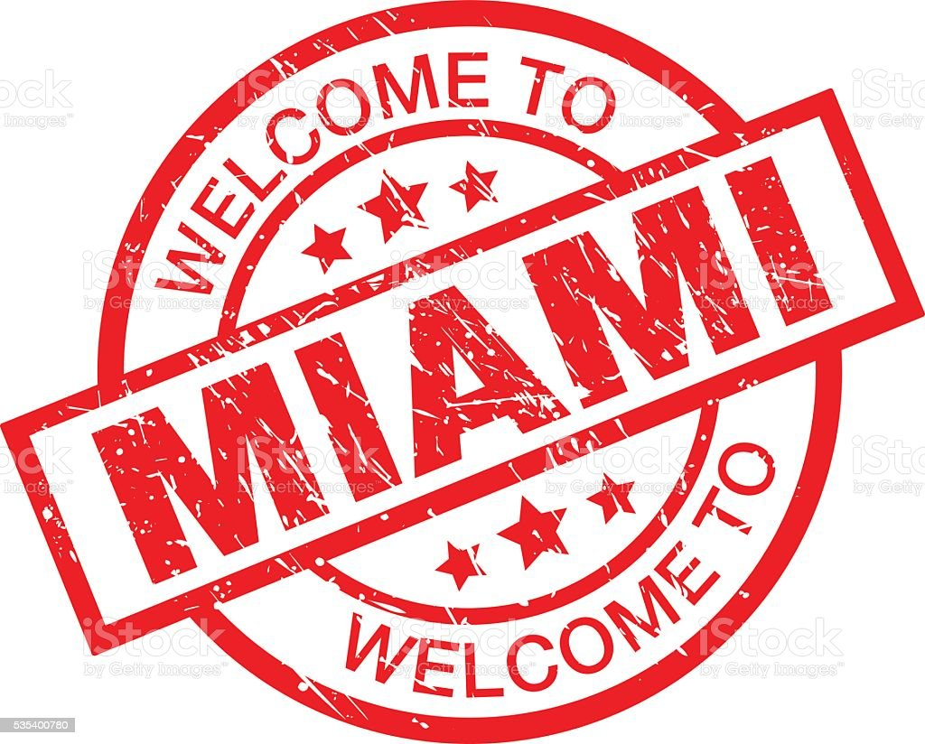 Welcome to Miami vector art illustration