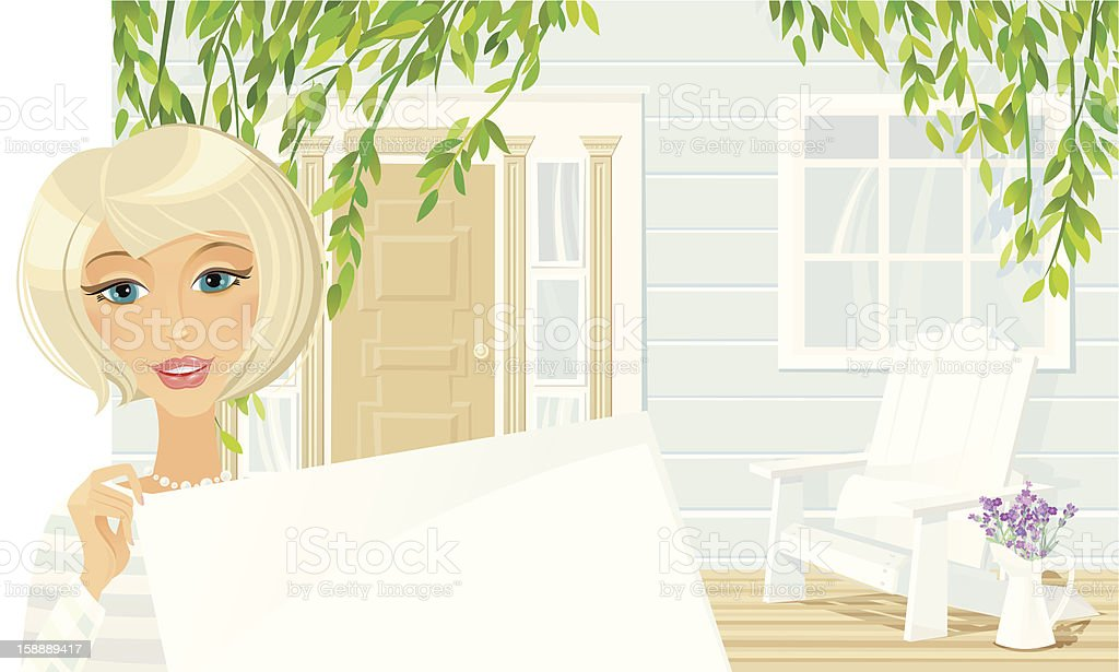 Welcome to our Cottage royalty-free stock vector art