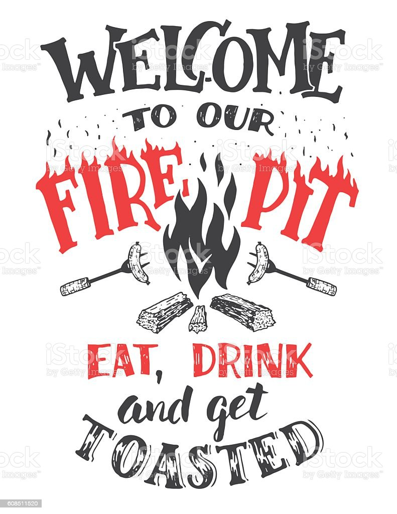 Welcome to our fire pit poster vector art illustration