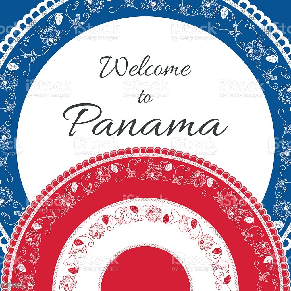 Welcome to Panama. Vector illustration vector art illustration