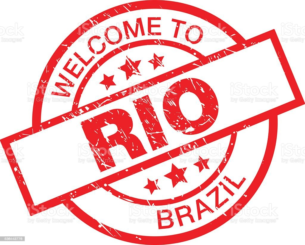 Welcome to Rio vector art illustration