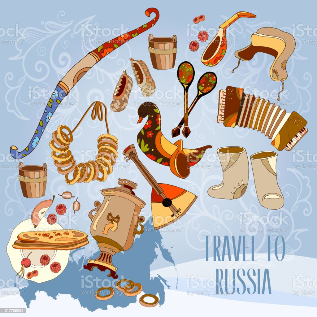welcome to russia traditional russian cuisine and culture stock welcome to russia traditional russian cuisine and culture royalty stock vector art