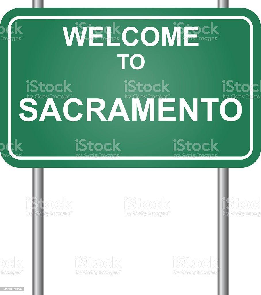 Welcome to Sacramento vector vector art illustration