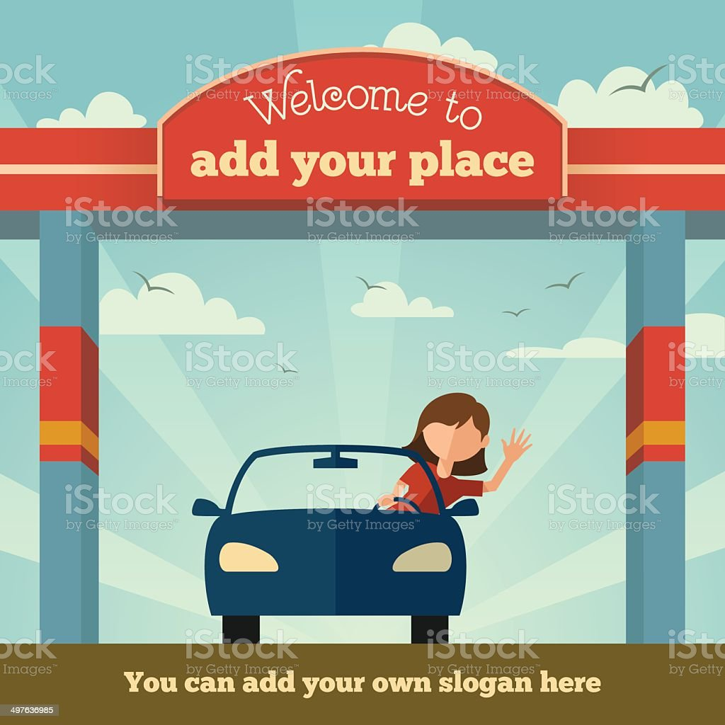 Welcome to sign vector art illustration