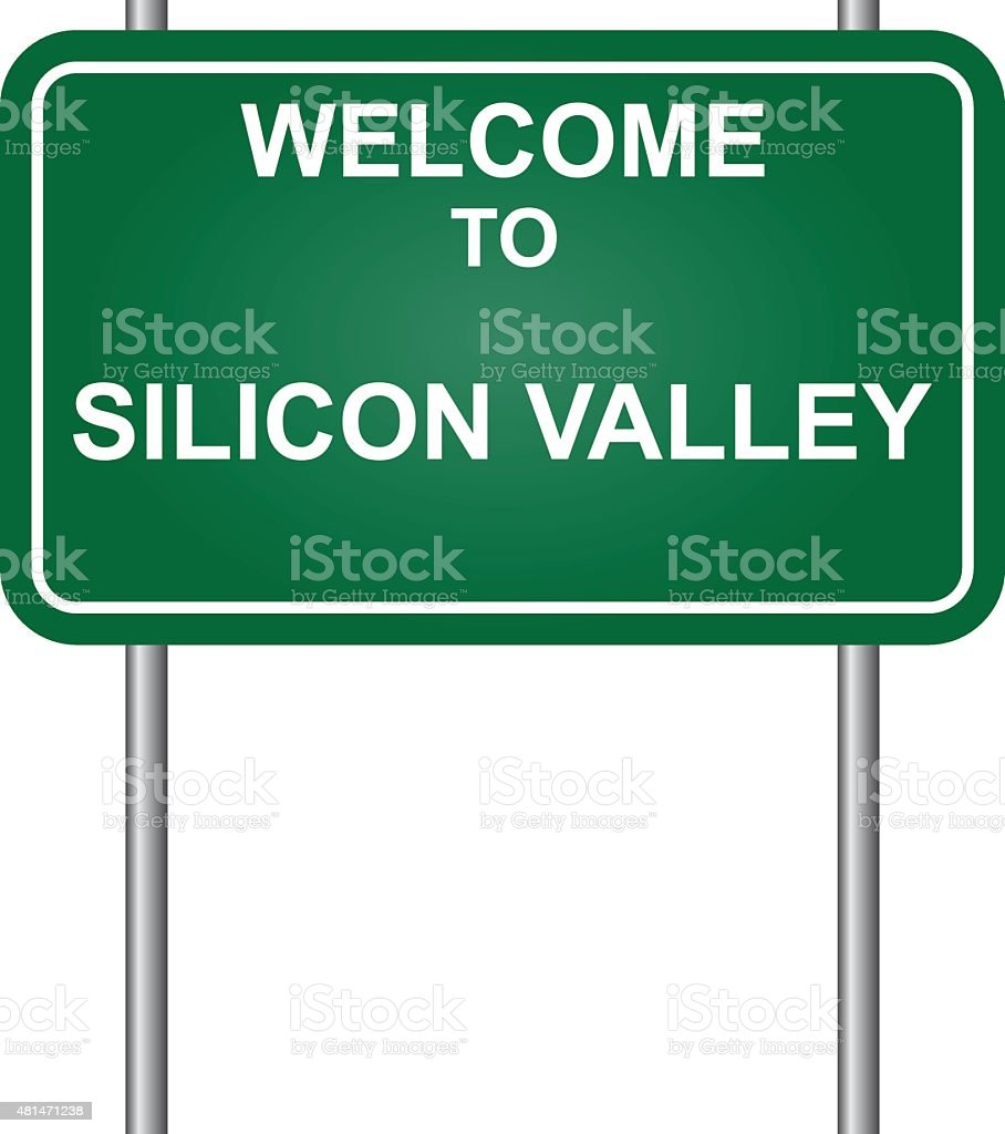 Welcome to Silicon Valley vector vector art illustration