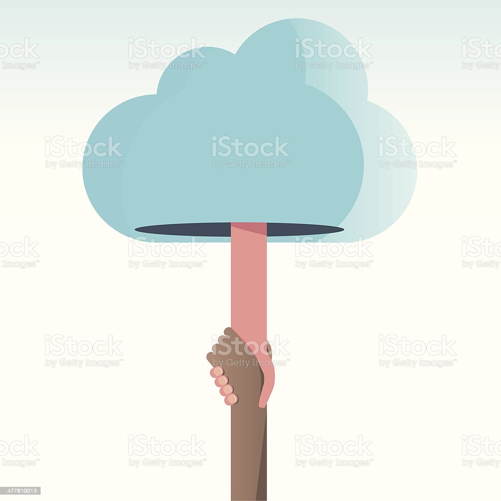 Welcome to the cloud royalty-free stock vector art