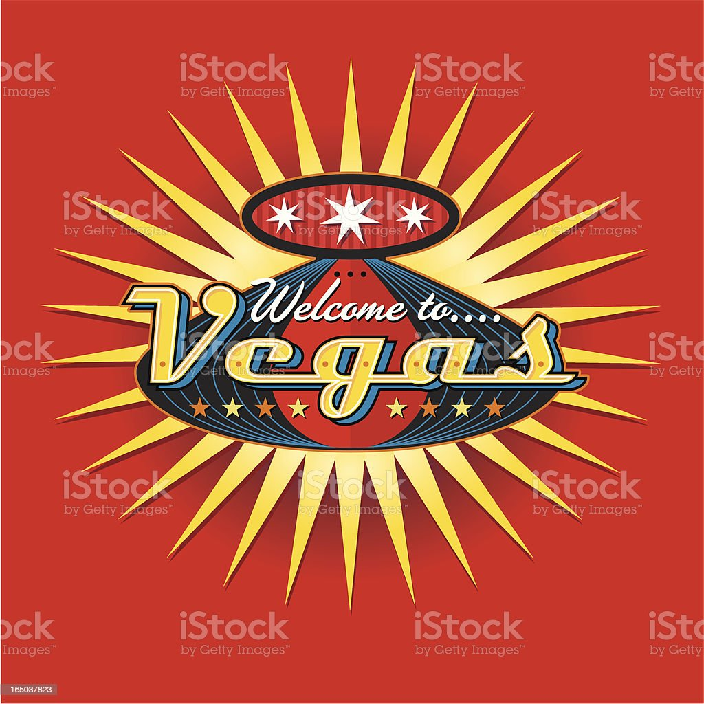 Welcome to Vegas royalty-free stock vector art
