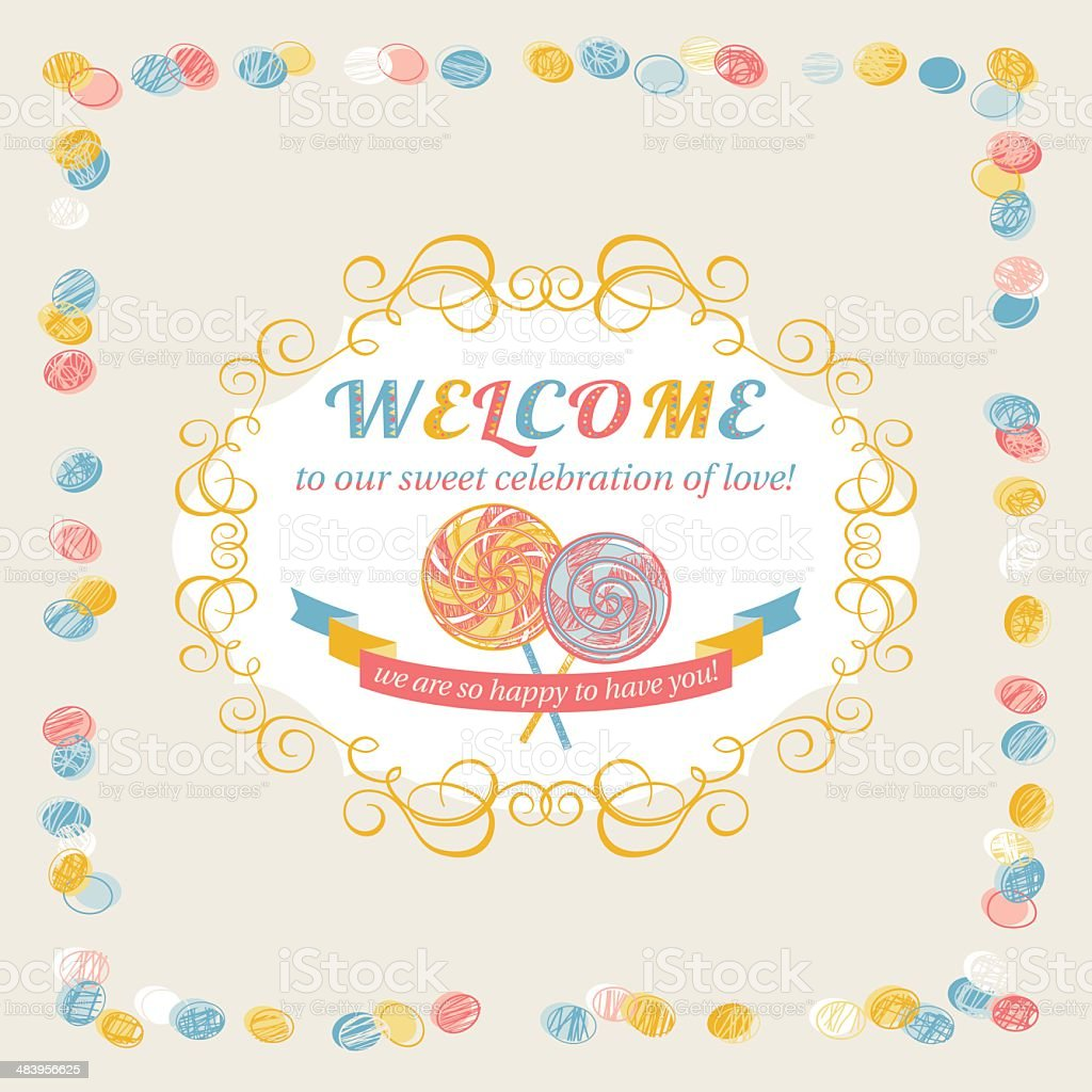 Welcome (Greeting Card) royalty-free stock vector art